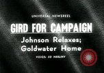 Image of Lyndon B Johnson Phoenix Arizona USA, 1964, second 1 stock footage video 65675035417