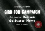 Image of Lyndon B Johnson Phoenix Arizona USA, 1964, second 2 stock footage video 65675035417