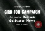 Image of Lyndon B Johnson Phoenix Arizona USA, 1964, second 5 stock footage video 65675035417