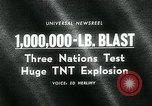 Image of TNT explosion Alberta Canada, 1964, second 2 stock footage video 65675035418