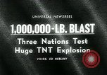 Image of TNT explosion Alberta Canada, 1964, second 4 stock footage video 65675035418