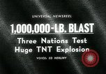 Image of TNT explosion Alberta Canada, 1964, second 5 stock footage video 65675035418