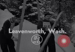 Image of skiing Leavenworth Washington USA, 1956, second 1 stock footage video 65675035439
