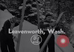 Image of skiing Leavenworth Washington USA, 1956, second 2 stock footage video 65675035439