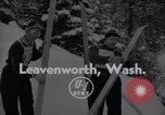 Image of skiing Leavenworth Washington USA, 1956, second 3 stock footage video 65675035439