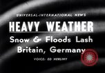Image of Rhine river Germany, 1958, second 1 stock footage video 65675035443