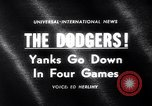 Image of Baseball World Series Los Angeles California USA, 1963, second 3 stock footage video 65675035457