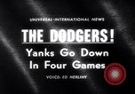 Image of Baseball World Series Los Angeles California USA, 1963, second 5 stock footage video 65675035457