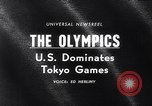 Image of Olympics Games Tokyo Japan, 1964, second 1 stock footage video 65675035463
