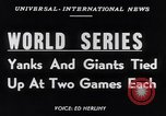 Image of World Series NY Yankees vs NY Giants New York City USA, 1951, second 2 stock footage video 65675035474