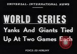 Image of World Series NY Yankees vs NY Giants New York City USA, 1951, second 6 stock footage video 65675035474