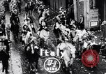 Image of Orange throwing festival Turin Italy, 1952, second 2 stock footage video 65675035494