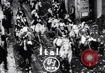 Image of Orange throwing festival Turin Italy, 1952, second 3 stock footage video 65675035494