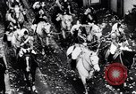 Image of Orange throwing festival Turin Italy, 1952, second 5 stock footage video 65675035494