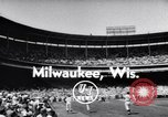 Image of All Star Baseball Game Milwaukee Wisconsin USA, 1955, second 2 stock footage video 65675035508