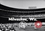 Image of All Star Baseball Game Milwaukee Wisconsin USA, 1955, second 4 stock footage video 65675035508