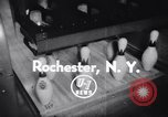 Image of bowling Rochester New York USA, 1956, second 4 stock footage video 65675035514