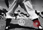 Image of Brooklyn Dodgers in Spring training Vero Beach Florida USA, 1956, second 3 stock footage video 65675035517