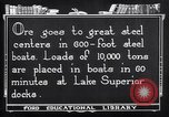 Image of ore freighter United States USA, 1920, second 3 stock footage video 65675035526