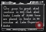 Image of ore freighter United States USA, 1920, second 8 stock footage video 65675035526