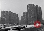 Image of Harlem high rise housing New York City USA, 1963, second 12 stock footage video 65675035549