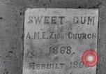 Image of Sweet Gum A.M.E. Zion Church Tuskegee Alabama USA, 1935, second 3 stock footage video 65675035573