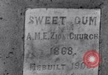 Image of Sweet Gum A.M.E. Zion Church Tuskegee Alabama USA, 1935, second 4 stock footage video 65675035573