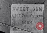 Image of Sweet Gum A.M.E. Zion Church Tuskegee Alabama USA, 1935, second 6 stock footage video 65675035573