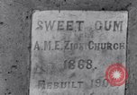 Image of Sweet Gum A.M.E. Zion Church Tuskegee Alabama USA, 1935, second 7 stock footage video 65675035573