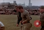 Image of Football field in racecourse infield Tsingtao China, 1946, second 9 stock footage video 65675035638