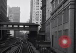 Image of Elevated train of the Interborough Rapid Transit System in Manhattan New York City USA, 1916, second 3 stock footage video 65675035665