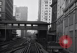 Image of Elevated train of the Interborough Rapid Transit System in Manhattan New York City USA, 1916, second 4 stock footage video 65675035665