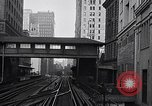 Image of Elevated train of the Interborough Rapid Transit System in Manhattan New York City USA, 1916, second 5 stock footage video 65675035665