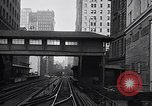 Image of Elevated train of the Interborough Rapid Transit System in Manhattan New York City USA, 1916, second 6 stock footage video 65675035665