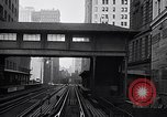 Image of Elevated train of the Interborough Rapid Transit System in Manhattan New York City USA, 1916, second 7 stock footage video 65675035665