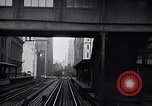 Image of Elevated train of the Interborough Rapid Transit System in Manhattan New York City USA, 1916, second 9 stock footage video 65675035665