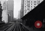 Image of Elevated train of the Interborough Rapid Transit System in Manhattan New York City USA, 1916, second 12 stock footage video 65675035665