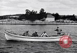 Image of rowing boat New York City USA, 1916, second 4 stock footage video 65675035668