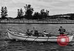 Image of rowing boat New York City USA, 1916, second 9 stock footage video 65675035668