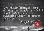 Image of beach patrol men New York City USA, 1916, second 1 stock footage video 65675035669