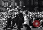 Image of Queen Elizabeth cutting cake at a party for children Ottawa Ontario Canada, 1967, second 10 stock footage video 65675035696
