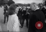 Image of Jacqueline Kennedy chats with Irish President and Mrs. De Valera Dublin Ireland, 1967, second 10 stock footage video 65675035697
