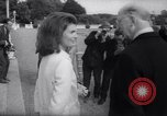 Image of Jacqueline Kennedy chats with Irish President and Mrs. De Valera Dublin Ireland, 1967, second 11 stock footage video 65675035697