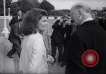 Image of Jacqueline Kennedy chats with Irish President and Mrs. De Valera Dublin Ireland, 1967, second 12 stock footage video 65675035697