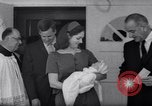 Image of President and Mrs. Lyndon B Johnson attend grandson's baptism Texas United States USA, 1967, second 8 stock footage video 65675035698