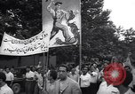 Image of Iranian demonstration for nationalization of Anglo-Iranian Oil Company Tehran Iran, 1951, second 2 stock footage video 65675035719