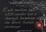 Image of machines and workers manufacturing cloth United States USA, 1920, second 4 stock footage video 65675035761