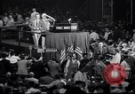Image of Herbert Hoover addresses cheering crowd at Republican Convention Cleveland Ohio USA, 1936, second 2 stock footage video 65675035785