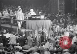 Image of Herbert Hoover addresses cheering crowd at Republican Convention Cleveland Ohio USA, 1936, second 4 stock footage video 65675035785