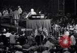 Image of Herbert Hoover addresses cheering crowd at Republican Convention Cleveland Ohio USA, 1936, second 5 stock footage video 65675035785